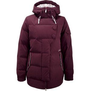 NIKE Snowboarding Esteral Down Jacket in Burgundy